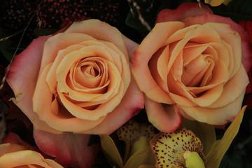 Big pink wedding roses