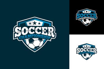 Soccer Football Logo Template Design Vector, Emblem, Design Concept, Creative Symbol, Icon