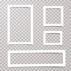 simple 4 white frames