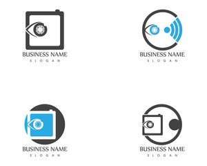Camera icon logo template
