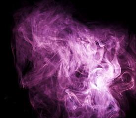 Purple smoke on black background