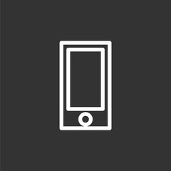 Smartphone icon flat style smartphone vector illustration. Smart phone sign for web design