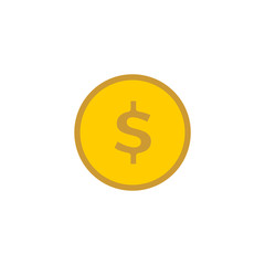 Money. Line Icon Vector. Payment system. Coins and Dollar cent Sign
