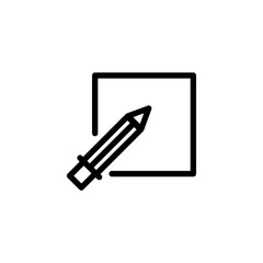 Pencil icon vector illustration in flat style