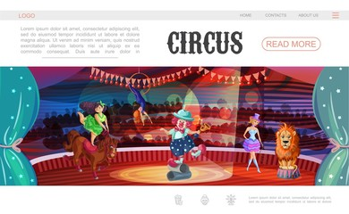 Cartoon Circus Web Page Template