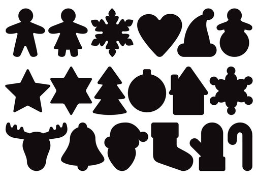 Gingerbread silhouette set