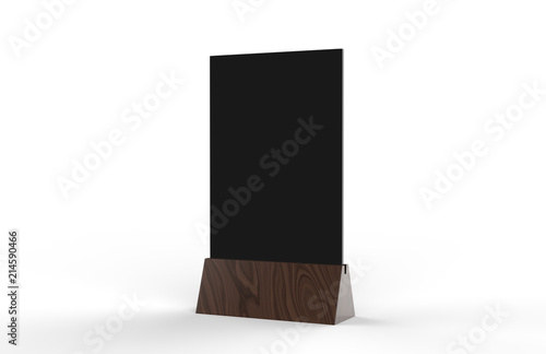 Blank Table Tent Mock Up Template On Isolated White Background - Bar table tents