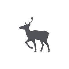 Monochrome emblem of deer. isolated vector illustration