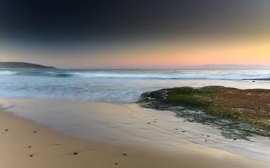 Sunset Seascape and Rock Ledge