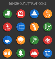 winter 16 flat icons