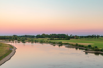 Foto op Aluminium Rivier The old Dutch river IJssel in the province of Gelderland near the city of Zutphen