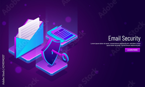 Internet Security concept based, isometric illustration of