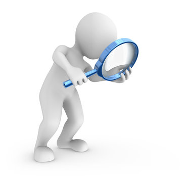 Search with big blue magnifying glass.