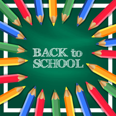 Back to School Banner with pencil color