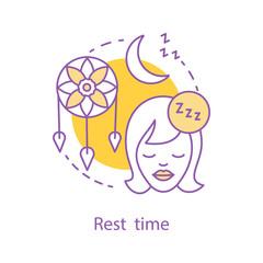 Bedtime concept icon