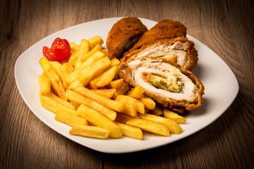 Chicken breast stuffed jalapenno