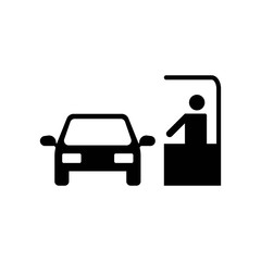 Paying Car Ticket icon vector icon. Simple element illustration. Paying Car Ticket symbol design. Can be used for web and mobile.