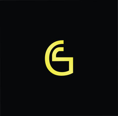 Outstanding professional elegant trendy awesome artistic black and gold color GS SG initial based Alphabet icon logo.