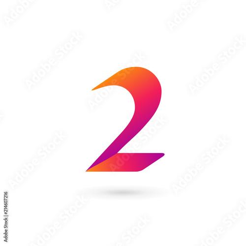 Number 2 Logo Icon Design Template Elements Fichier Vectoriel Libre