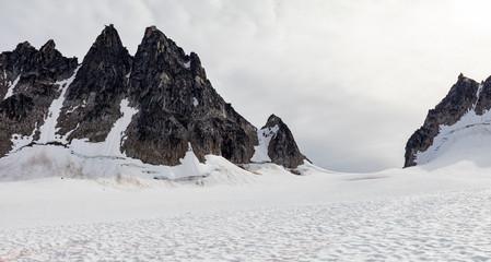 Mountain Peaks in the Alaskan Range