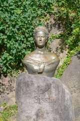 Sculpture of empress Elisabeth of Austria also known as Sissi