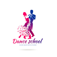 Vector logo template for dance studio
