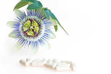capsules with passion flower herb