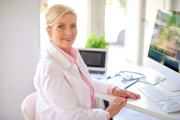 Executive female research physician portrait