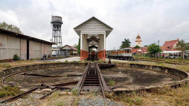 Railway turntable in Chiang Mai, Thailand