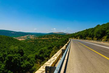 View of Galilee Hills at summertime, Galilee, Israel