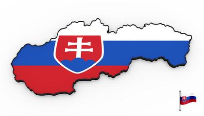 Slovakia high detailed 3D map