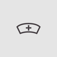 nurse, medical hat vector icon illustration
