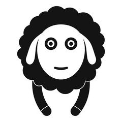 Front face sheep icon. Simple illustration of front face sheep vector icon for web design isolated on white background