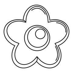 Choco flower icon. Outline illustration of choco flower vector icon for web design isolated on white background