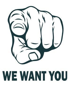 We want you. Vector