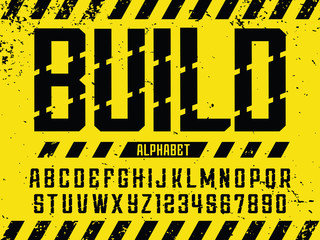 Modern professional vector alphabet build. Custom typeface