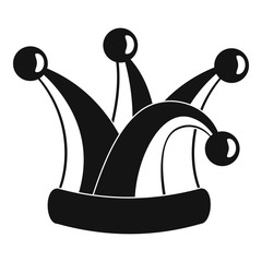 Royal jester hat icon. Simple illustration of royal jester hat vector icon for web design isolated on white background