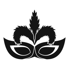 Fashion mask icon. Simple illustration of fashion mask vector icon for web design isolated on white background