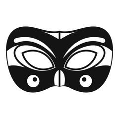 Eyes carnival mask icon. Simple illustration of eyes carnival mask vector icon for web design isolated on white background