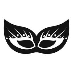 Italian festive mask icon. Simple illustration of italian festive mask vector icon for web design isolated on white background