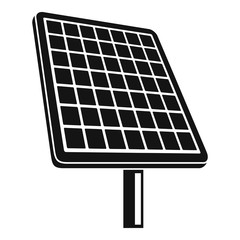 Solar panel icon. Simple illustration of solar panel vector icon for web design isolated on white background