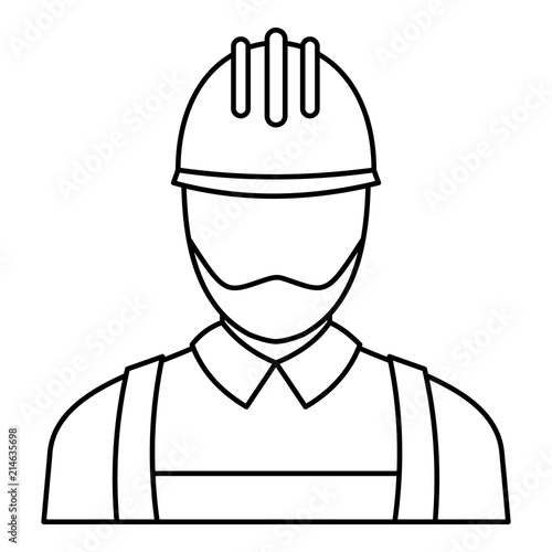 Electric Man Icon Outline Illustration Of Electric Man Vector Icon