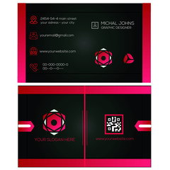 creative business card identity vector template. cool colors and design and easily editable vector eps10 file format.