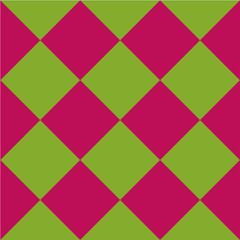 Nahtloses Karomuster in grün pink. Vektordatei eps 10