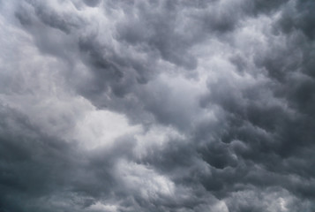 Dark thundercloud on summer day