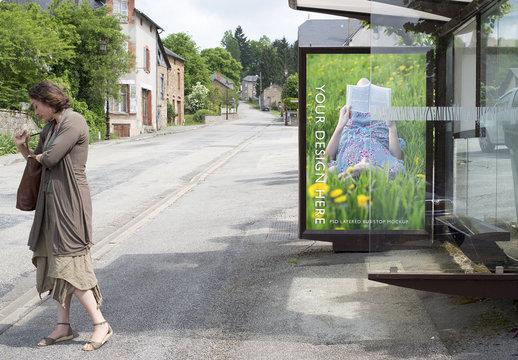Bus Kiosk Advertisement Mockup