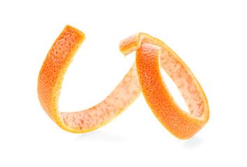 Grapefruit peel against white background