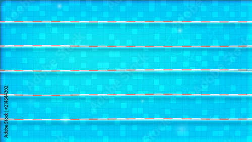 Paths For Dip In The Pool Top View Texture Of Water Swimming