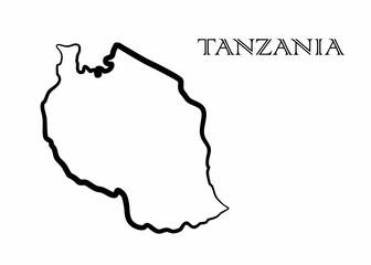 the Tanzania map
