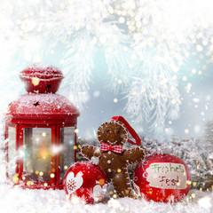 Weihnachten Hintergrund Geschenke Laterne